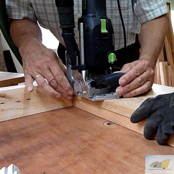De domino testen voor de houtverbindingen