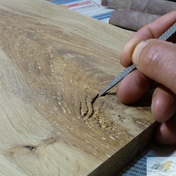 Detailbewerking knoest verloop panelen
