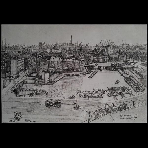 Uitzicht uit Dijkzigt 1981